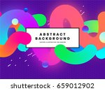 abstract memphis style vector... | Shutterstock .eps vector #659012902