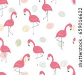 cute hand drawn seamless... | Shutterstock .eps vector #659016622