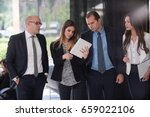 corporate business team and...   Shutterstock . vector #659022106