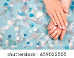 stylish trendy female manicure. ... | Shutterstock . vector #659022505
