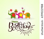 template birthday greeting card ...   Shutterstock .eps vector #659022988