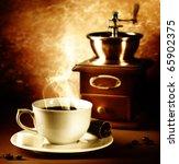 Coffee.vintage Styled.sepia...