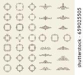 huge rosette wicker border... | Shutterstock . vector #659025505