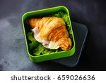 take out food croissant... | Shutterstock . vector #659026636