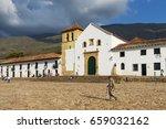 villa de leyva  colombia  ... | Shutterstock . vector #659032162