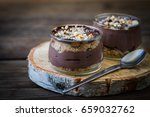 delicious dark chocolate mousse ... | Shutterstock . vector #659032762