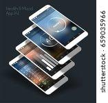 flat design responsive ui... | Shutterstock .eps vector #659035966