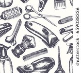 barber equipment   one color... | Shutterstock .eps vector #659038336