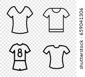 tshirt icons set. set of 4... | Shutterstock .eps vector #659041306