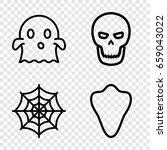 horror icons set. set of 4...   Shutterstock .eps vector #659043022