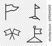 pennant icons set. set of 4...