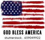 brush america flag grunge with...   Shutterstock . vector #659049922
