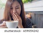 closeup image of asian woman...   Shutterstock . vector #659054242