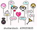 photo booth prop wedding party  ... | Shutterstock .eps vector #659055835