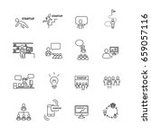 business and startup icons set...   Shutterstock .eps vector #659057116