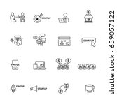 business and startup icons set... | Shutterstock .eps vector #659057122