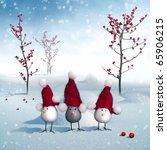 Beautiful Winter Card Poster...