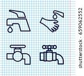 set of 4 knob outline icons... | Shutterstock .eps vector #659062552