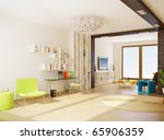 modern interior room with nice... | Shutterstock . vector #65906359