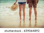 couple lover standing on the... | Shutterstock . vector #659064892