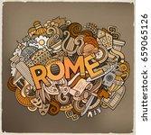 cartoon cute doodles hand drawn ... | Shutterstock .eps vector #659065126