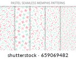 collection of colorful seamless ... | Shutterstock .eps vector #659069482