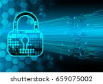 safety concept  closed padlock...   Shutterstock .eps vector #659075002