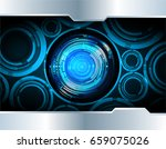 future technology  blue eye...   Shutterstock .eps vector #659075026