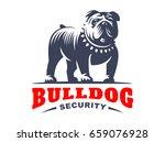 bulldog logo    illustration ... | Shutterstock . vector #659076928
