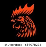 head rooster illustration... | Shutterstock . vector #659078236
