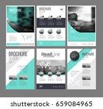 six multipurpose brochure...   Shutterstock .eps vector #659084965