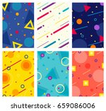 memphis style covers set with... | Shutterstock .eps vector #659086006