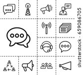 communicate icon. set of 13... | Shutterstock .eps vector #659086705