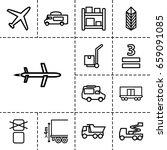 cargo icon. set of 13 outline...   Shutterstock .eps vector #659091085