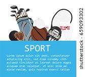 flat design sport concept.... | Shutterstock .eps vector #659093302
