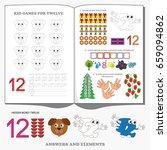 figure twelve. dot to dot... | Shutterstock .eps vector #659094862