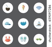 flat icons cancer  car ... | Shutterstock .eps vector #659097286