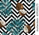 seamless vector pattern of... | Shutterstock .eps vector #659100175