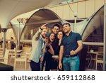 friends make selfies | Shutterstock . vector #659112868