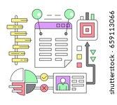 linear business infographics | Shutterstock .eps vector #659113066