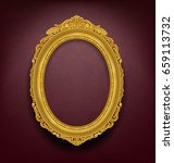 vintage gold picture frame on... | Shutterstock .eps vector #659113732