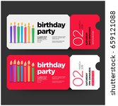 happy birthday invitation...   Shutterstock .eps vector #659121088