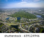 aerial view of kissimmee ... | Shutterstock . vector #659124946