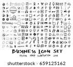 business doodles sketch vector... | Shutterstock .eps vector #659125162