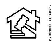 icon illustrations for bidding  ... | Shutterstock .eps vector #659125846