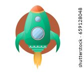 spacious green space rocket... | Shutterstock .eps vector #659128048