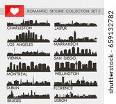 romantic skyline city... | Shutterstock .eps vector #659132782