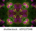 mosaic flower cross background  ...   Shutterstock . vector #659137348