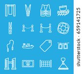 rope icons set. set of 16 rope... | Shutterstock .eps vector #659141725