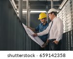 engineers in mechanical factory ... | Shutterstock . vector #659142358